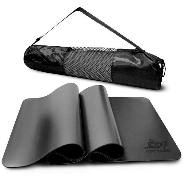 LOG樂格:LOGYOGA樂格環保無毒PU專業款瑜珈墊-黑色(厚度0.5cm)