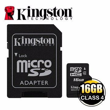【新風尚潮流】金士頓記憶卡 16G 16GB Micro SDHC Class 4 C4 SDC4/16GB