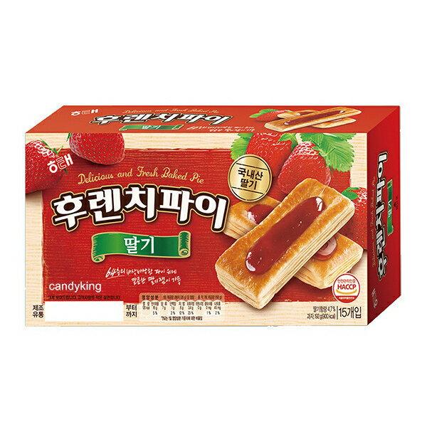 韓國 海太 草莓派 15入裝 15入裝 192g 千層酥 草莓果醬