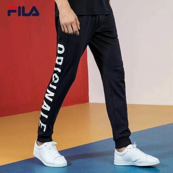 FILAOriginale系列透氣排汗修身縮口棉褲
