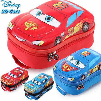 Disney 迪士尼 幼兒園書包男童迪士尼汽車總動員卡通小孩中大班兒童寶寶雙肩背包