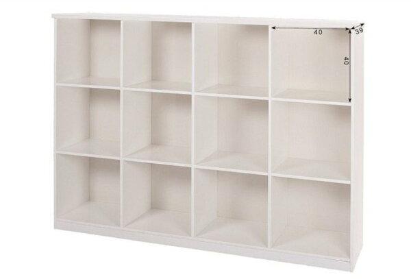 【石川家居】923-04白色十二格置物櫃(CT-809)#訂製預購款式#環保塑鋼P無毒防霉易清潔