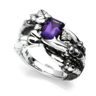 【Bloody Mary】Bulb 紫水晶鑲鑽純銀戒指 (BMR0613-AWd)