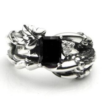【Bloody Mary】Bulb 縞瑪瑙鑲鑽純銀戒指 (BMR0613-Owd)
