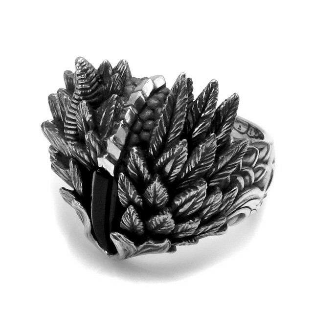 【Bloody Mary】Exist 存在燻黑純銀戒指(BMR1051-glass)
