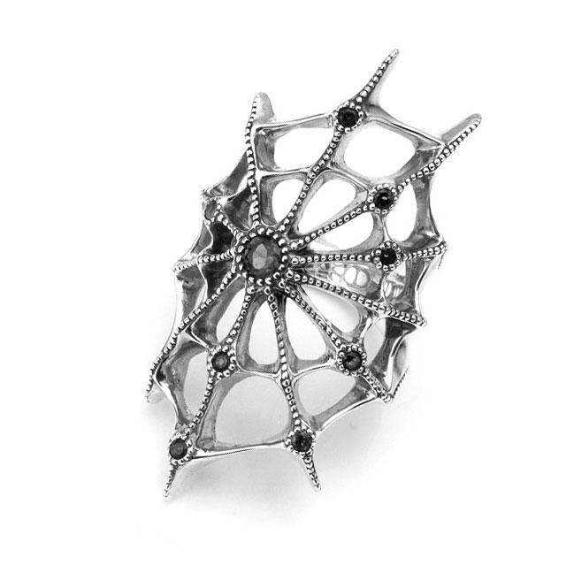 【Bloody Mary】Aranea蜘蛛 黑尖晶石純銀戒指 (BMR1230-Bsp)