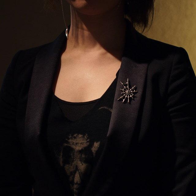 【Bloody Mary】Aranea蜘蛛 紫水晶純銀胸章(BMZ1217-A) 4