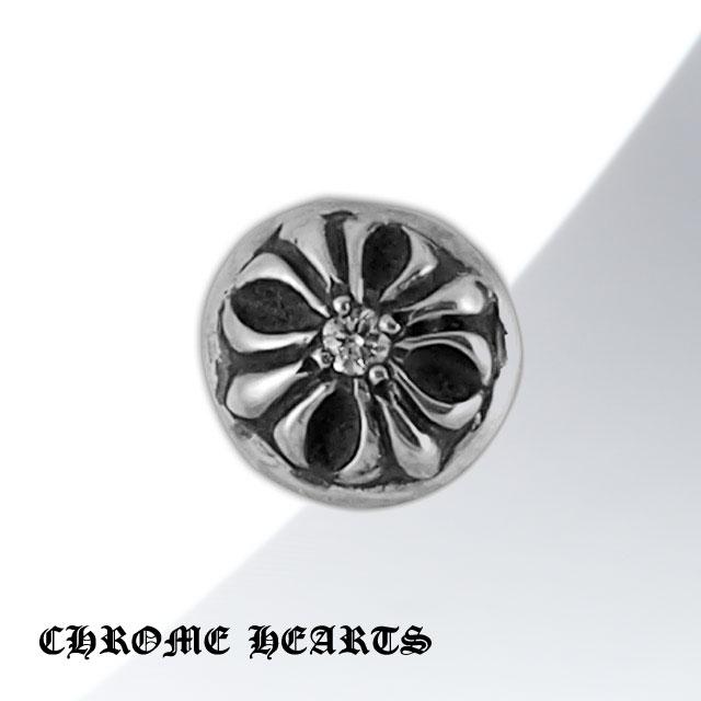 【Chrome Hearts】圓形十字架純銀耳環 - 鑲鑽款 (CHE-014)