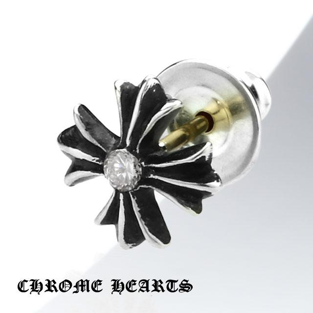 【Chrome Hearts】十字造型純銀耳環 - 鑲鑽款 (CHE-020)
