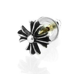 【Chrome Hearts】十字造型純銀耳環 (CHE-020)