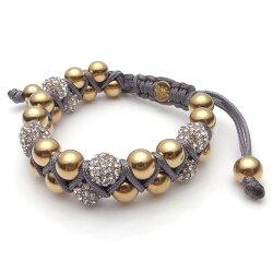 【KAPARA】玫瑰金不銹鋼白晶雙層灰色串珠手鍊(KB-K159)