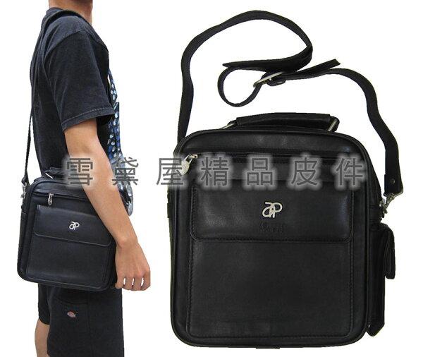~雪黛屋~Lornold手提肩背包中容量二層主袋100%進口牛皮革材質愛出休閒紳士上班隨身AP118516