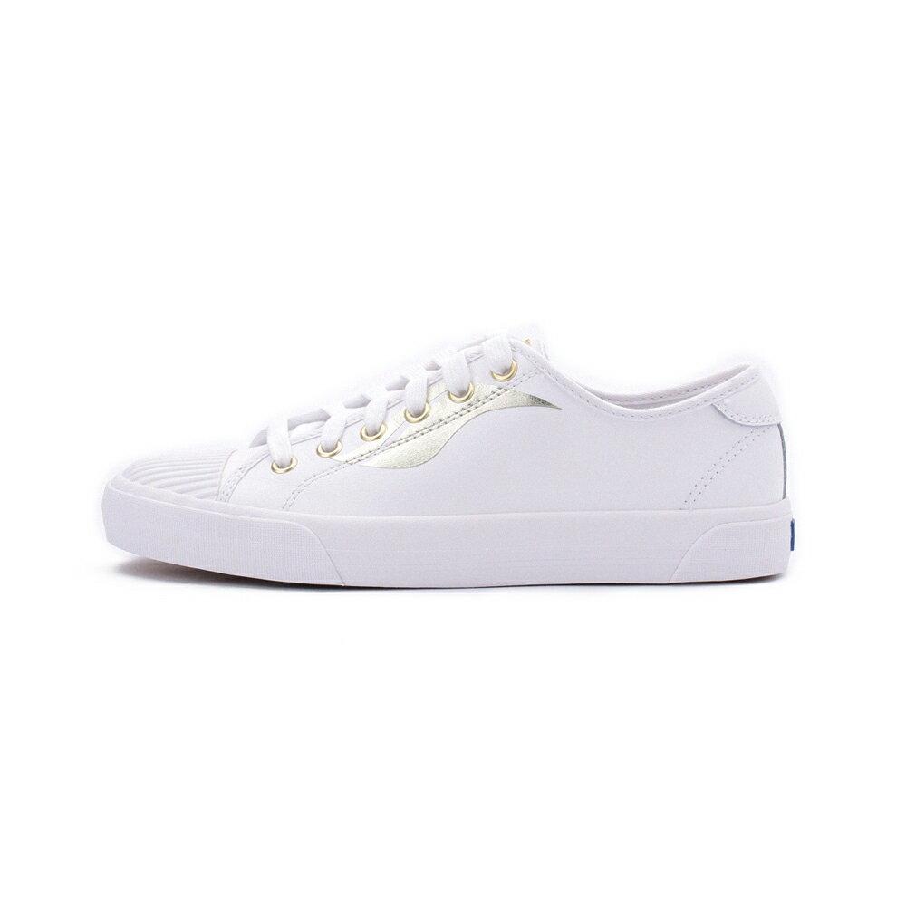 【限時8折】KEDS CREW KICK 皮革綁帶休閒鞋 白 9203W123103 女鞋