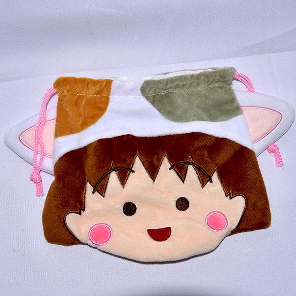 NOBA 不只是禮品:櫻桃小丸子立體束口袋絨質日本正版商品