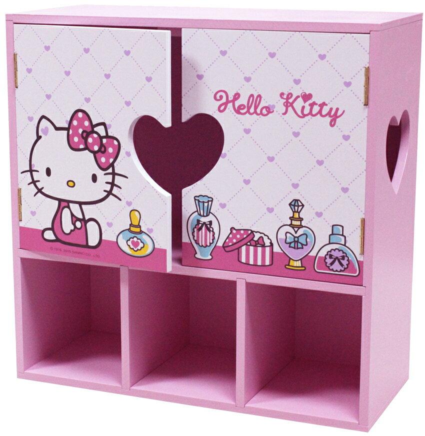 【真愛日本】15072900001KT拉門收?盒-珠寶 三麗鷗 Hello Kitty 凱蒂貓  收納櫃 日用品 正品
