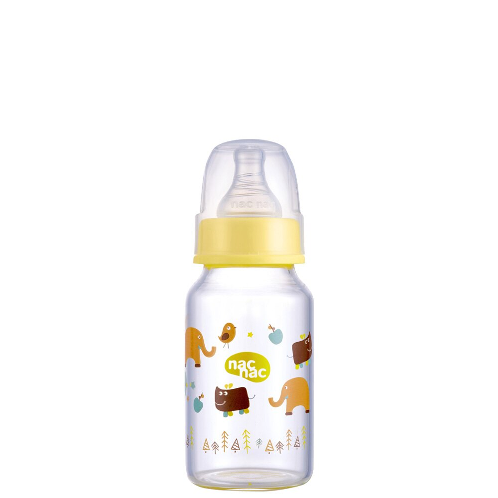 【麗嬰房】nac nac 吸吮力學標準輕量玻璃奶瓶(120ml)