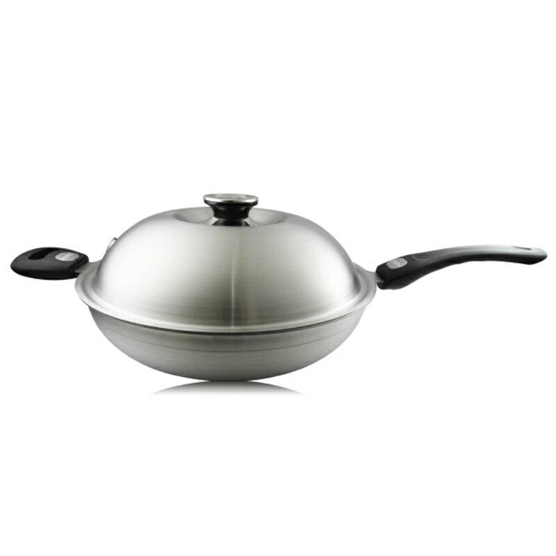 理想牌極緻316七層不鏽鋼炒菜鍋單把炒鍋36cm鍋耳一體成型-大廚師百貨