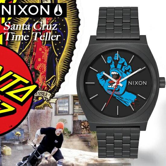 NIXONxSantaCruzTimeTeller聯名限定街頭潮流腕錶A045-2894公司貨極限運動名人