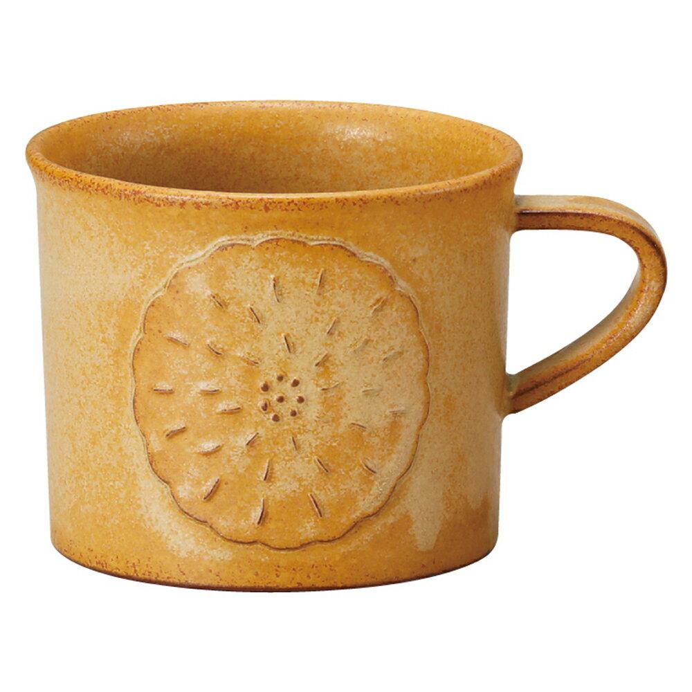 【日本Meister Hand】FLOR 雛菊馬克杯 咖啡杯 水杯 280ml 焦糖黃 -618年中慶