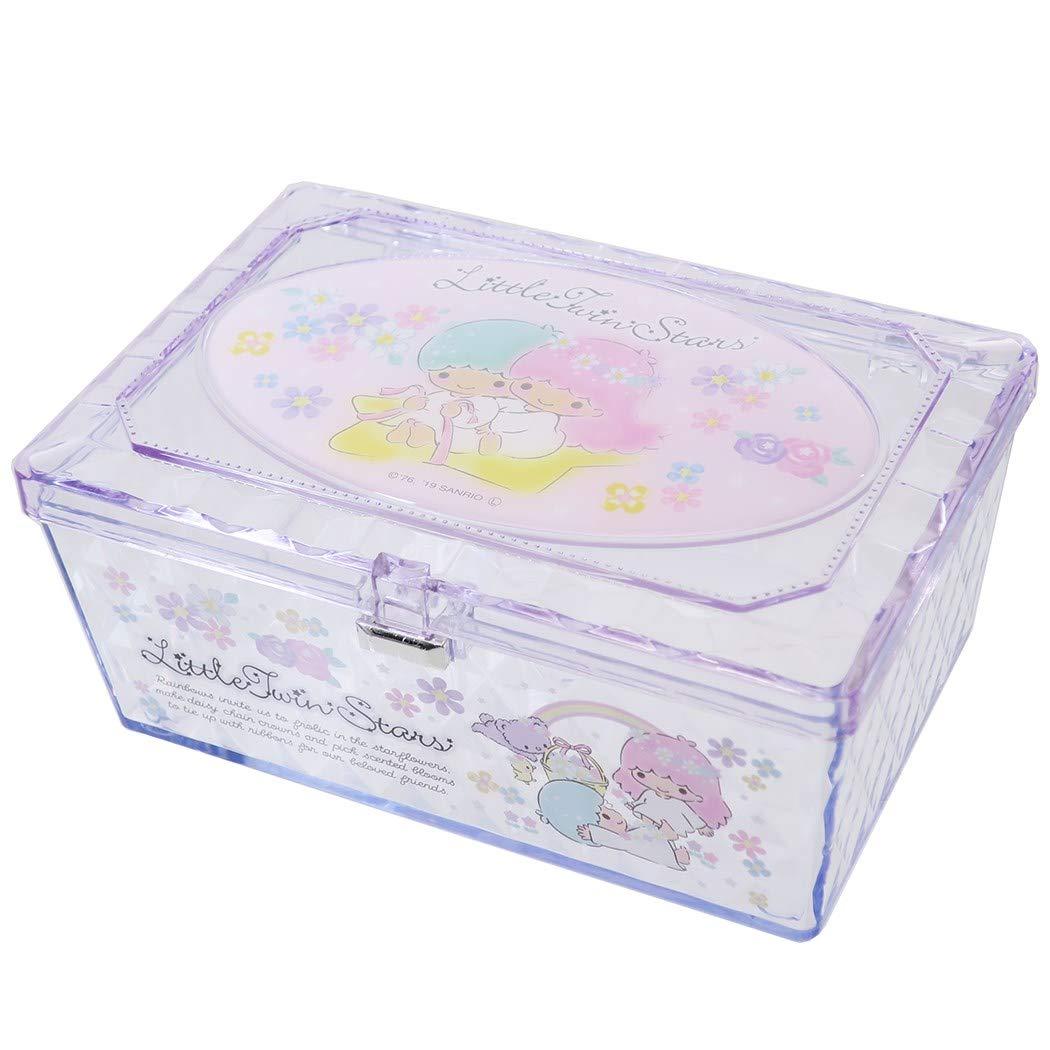 X射線【C481841】雙子星Little Twin Stars 透明小物收納盒,置物櫃 收納櫃 收納盒 抽屜收納盒 收納箱 桌上收納盒