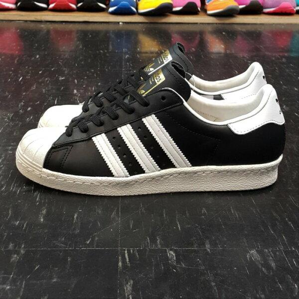 adidas SUPERSTAR 80s 金標 貝殼頭 黑色 黑白 奶油底 薄鞋舌 復古 皮革 真皮 G61069