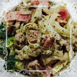 奶油蘑菇醬培根義大利麵6入組合