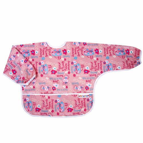 Baby City娃娃城 - 防水長袖圍兜(1-3A) 粉色兔子 0