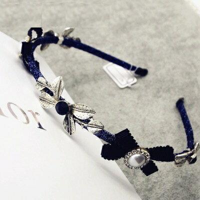<br/><br/> ☆髮箍珍珠髮圈(任兩件)-復古典雅花朵設計女美髮飾品2款73gi16【韓國進口】【米蘭精品】<br/><br/>