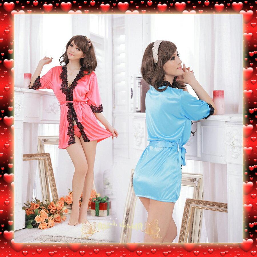 1094 現貨商品  情趣內衣 蕾絲花邊 性感浴袍 蕾絲花邊和服 睡衣 睡裙 緞面材質 情人節 送禮 外拍模特兒 旅拍 攝影