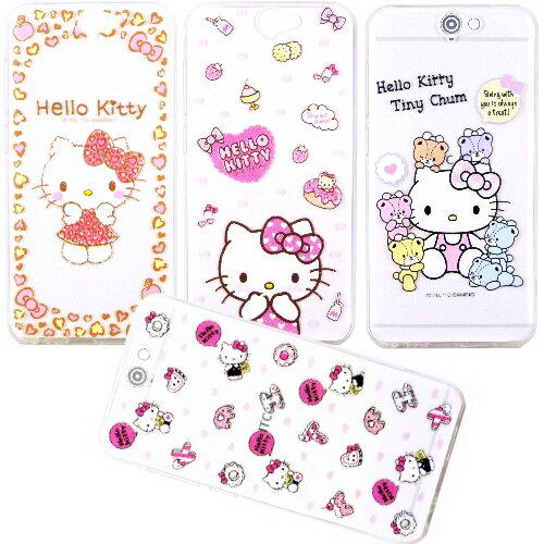 【Hello Kitty】HTC One A9 立體彩繪透明保護軟套