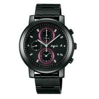 agnès b.眼鏡推薦到agnes b 7T92-0NL0SD(BF8327P1)法式前衛時尚計時腕錶/黑面紅40mm就在大高雄鐘錶城推薦agnès b.眼鏡