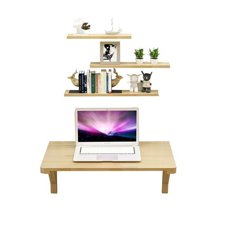 實木壁掛折疊桌小戶型壁掛連壁桌靠牆電腦桌隱形牆桌簡易電腦桌 5