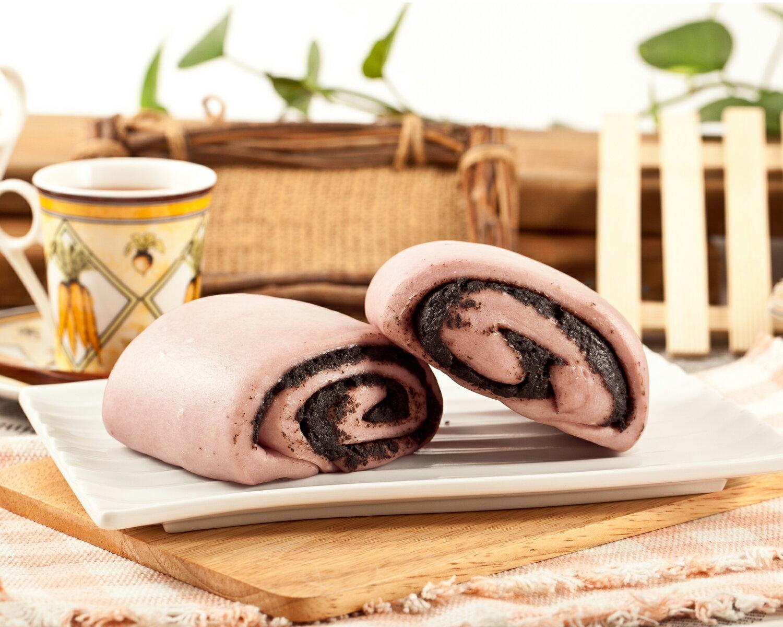 紫地瓜芝麻饅頭 3