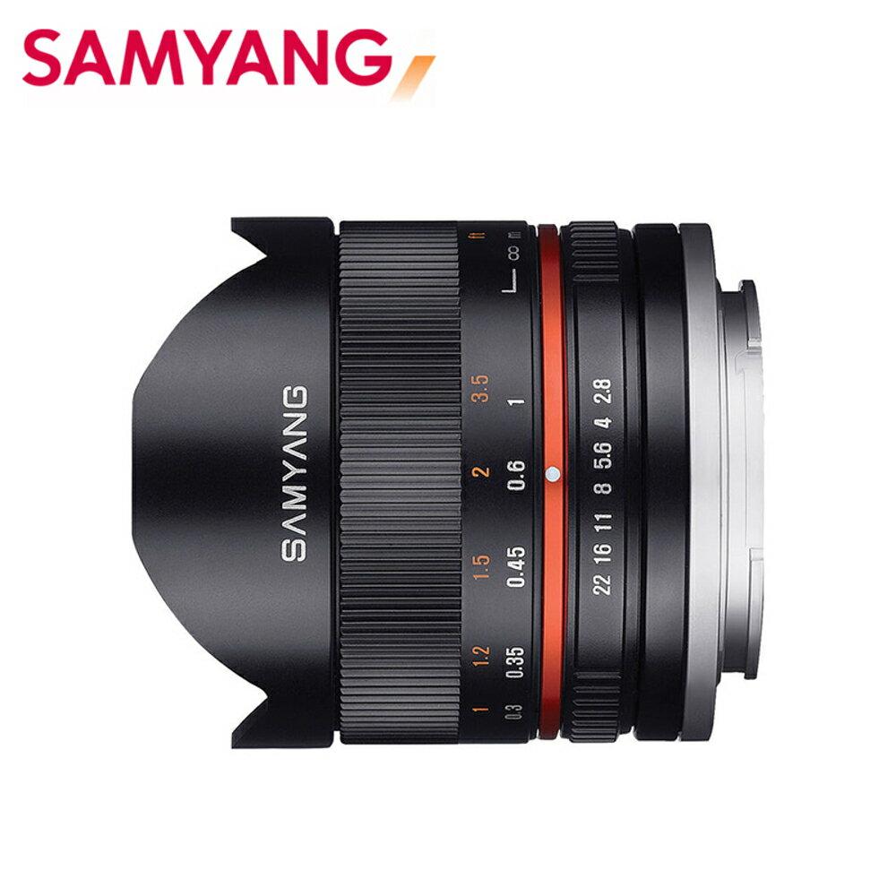 SHOPRO 購物行家 ..  SAMYANG 三陽 8mm F2.8 UMC Fish-eye II APS-C 魚眼鏡頭 黑 EOSM SONY E FUJI X 正成公司貨...
