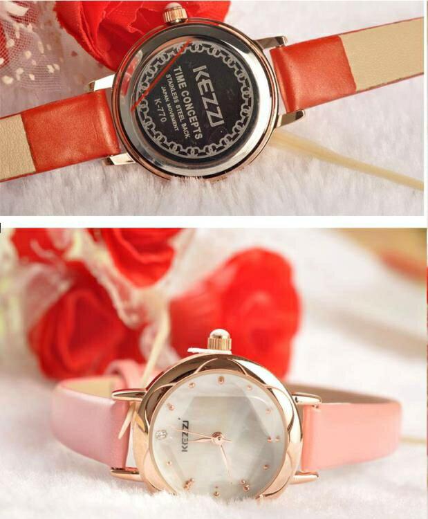 夯貨下殺! 手錶女韓版復古學生簡約表小表盤防水皮帶石英女表
