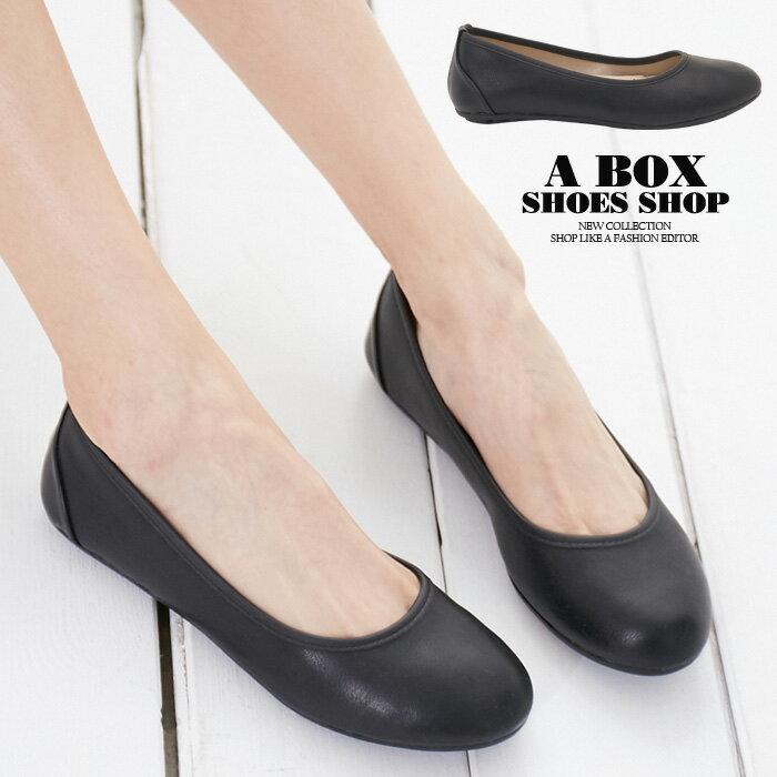 【KiD379】豆豆鞋 圓頭包鞋 OL上班族必備 真皮鞋乳膠鞋墊 MIT台灣製 黑色