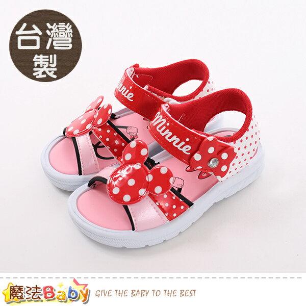 女童鞋台灣製迪士尼米妮正版涼鞋魔法Baby~sk0464
