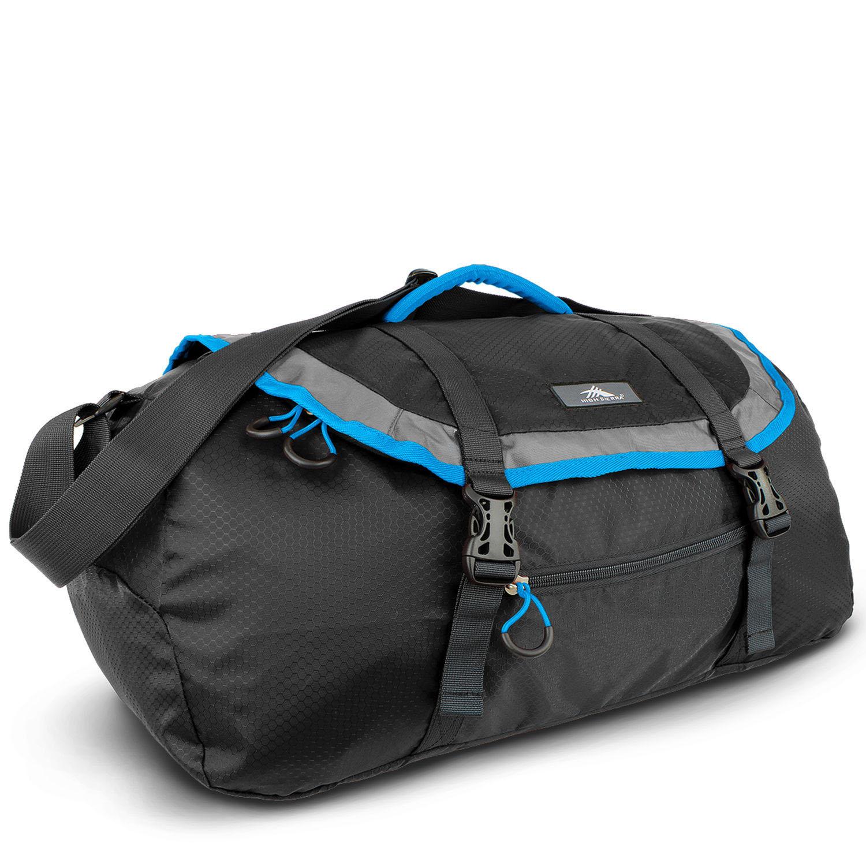 HIGH SIERRA美國戶外運動用品PACK-N-GO 2 40L SPORT DUFFEL 收納式多功能旅行袋運動背包40L-新秀麗Samsonite副牌 -藍黑配色-96H-YM006【禾雅】