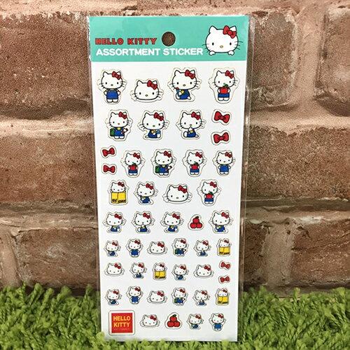 【真愛日本】17091400007 分類貼紙-KT藍衣 三麗鷗 Hello Kitty 凱蒂貓 裝飾貼紙
