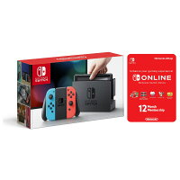 Deals on Nintendo Switch Neon Console w/Joycon Controls+ 1 Yr Membership