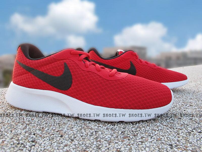 Shoestw【812654-005】NIKE TANJUN 透氣 網布 慢跑鞋 紅黑 男生尺寸
