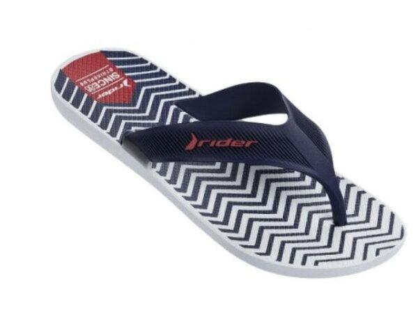 陽光運動館:[陽光樂活]RIDERSTRIKE時尚機能夾腳鞋男藍白線條RI1107321192