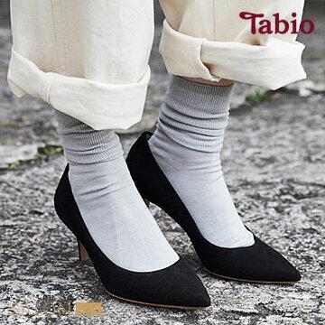 【靴下屋Tabio】學院風純色折邊短襪日本職人手做