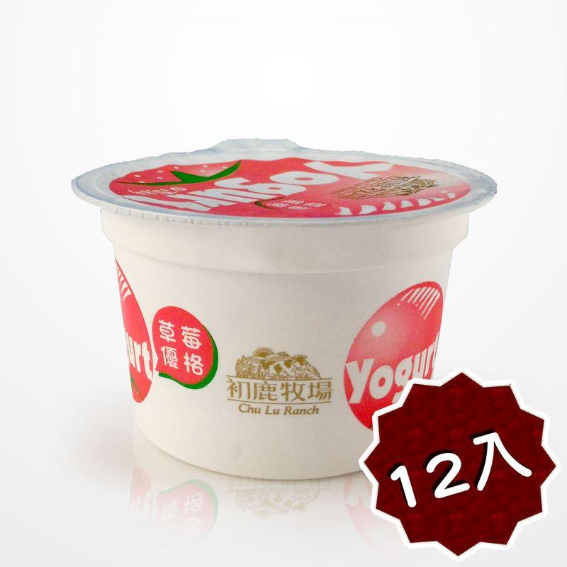 初鹿牧場 草莓優格 12杯 酸酸甜甜【台東專區】