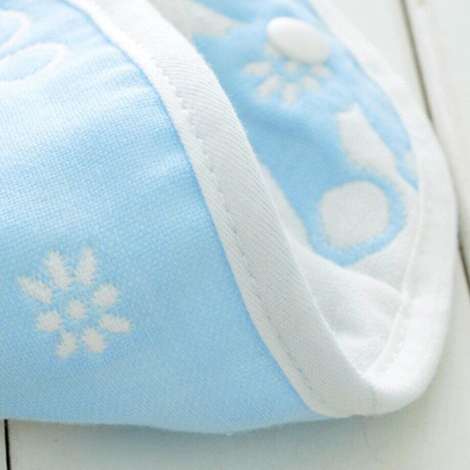 大尺寸雙面口水巾【SGS檢驗合格】 六層紗純棉U型圍兜 雙按扣 口水巾 吃飯巾 圍嘴 三角巾 6