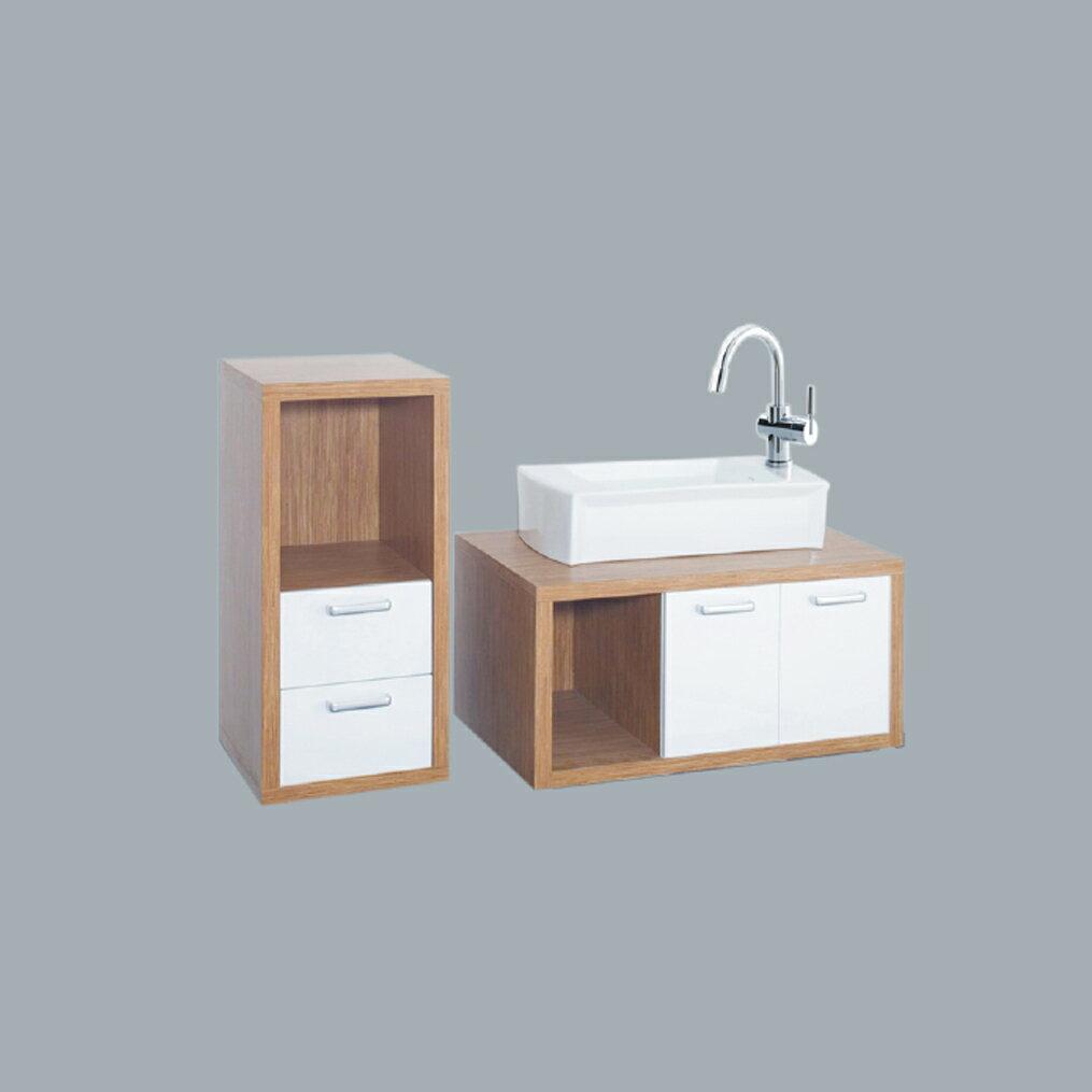 HCG臉盆浴櫃/不含水龍頭/L552SAdb+LCF9045B+LCF4090WA