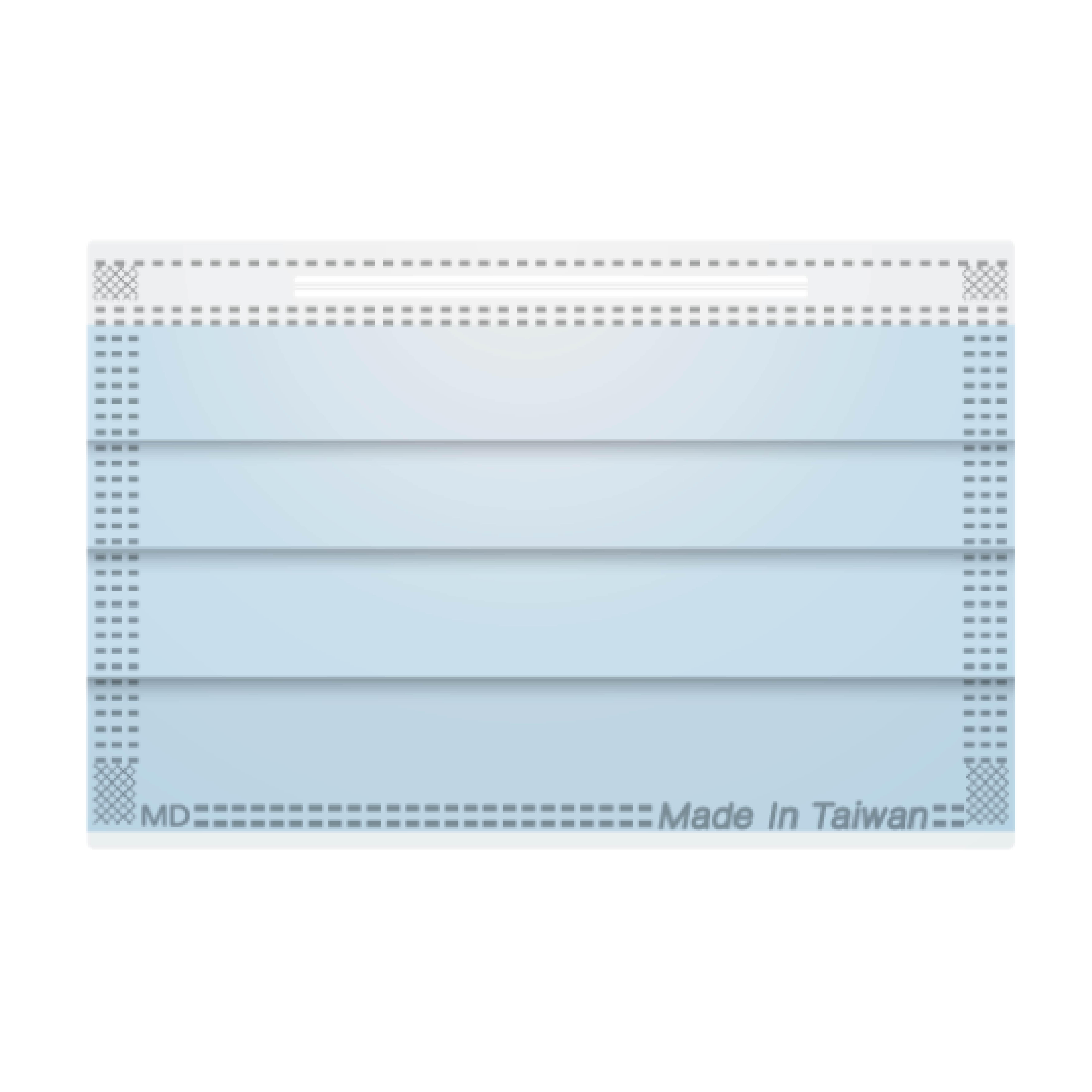 618購物節現貨 健豪 雙鋼印素面 醫療用 口罩 未滅菌 湖水藍  成人 台灣製 50片 / 盒