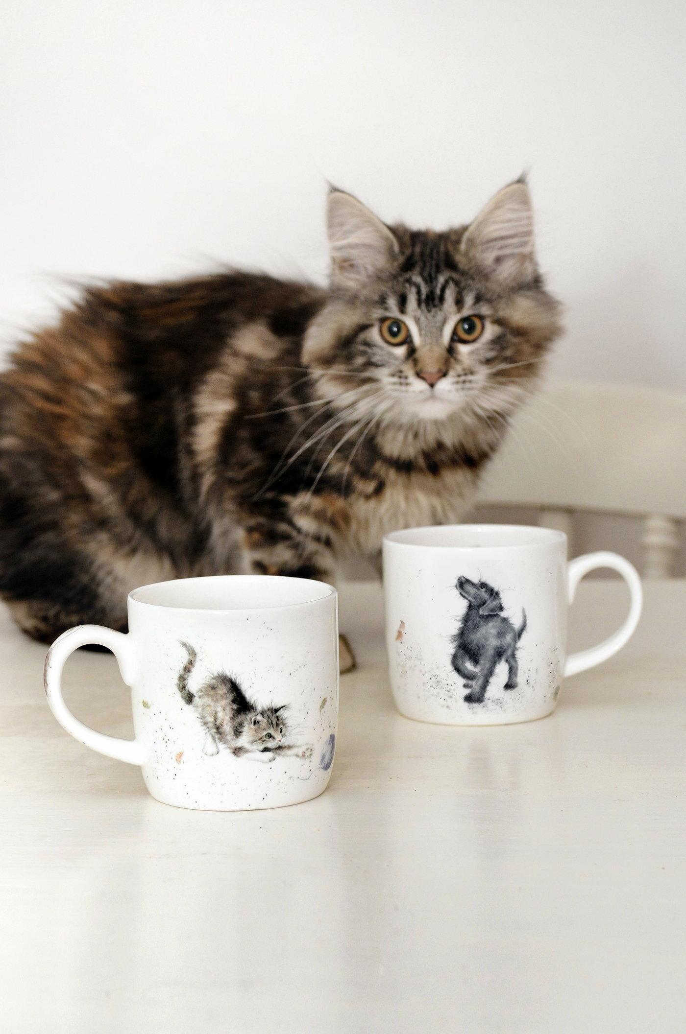 英國Royal Worcester 小動物樂園設計款310ML骨瓷馬克杯 -可愛小動物系列(共六款)