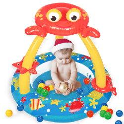 寶貝樂 螃蟹嬰兒充氣水池/游泳池(BTSPMB03-100)