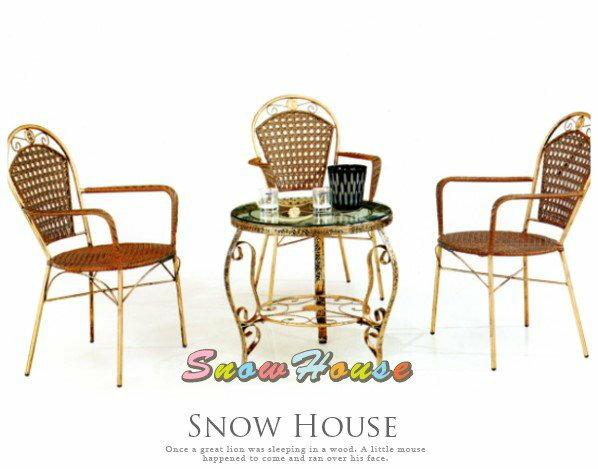 ╭☆雪之屋居家生活館☆╯@特價優惠@AA964-06 461復古鋼藤椅/戶外休閒椅/單張椅子